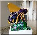 SJ8496 : Purple Crocus Bee by Gerald England