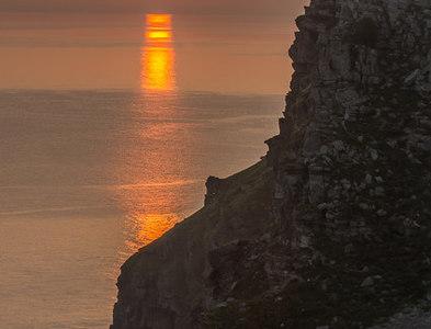 SS7049 : Sunrise behind Castle Rock by Ian Capper