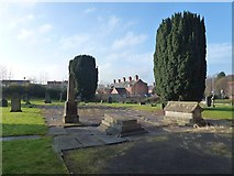 SO1091 : St David's churchyard, Newtown by Penny Mayes