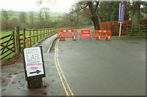 SX7962 : Road closed, Dartington by Derek Harper