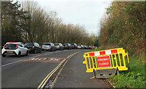 SX9066 : Traffic queue, Browns Bridge Road by Derek Harper