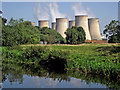 SK4928 : Riverside and cooling towers near Ratcliffe on Soar, Nottinghamshire by Roger  Kidd
