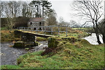 H5371 : Footbridge across the Camowen River by Kenneth  Allen
