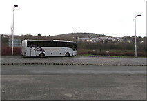 ST1599 : Sixty-Sixty coach parked at the edge of Bargoed bus station by Jaggery