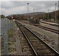 SO1107 : Rhymney Line south of Rhymney Station by Jaggery