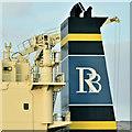 "J3576 : The ""RB Jordana"" (funnel), Belfast harbour (December 2018) by Albert Bridge"