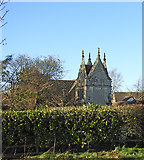 TG1508 : Hall Farm folly or slipper chapel in Garden House grounds by Adrian S Pye