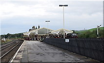 SD8557 : Hellifield station by Bill Harrison