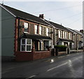 ST1195 : Five houses and five satellite dishes, Shingrig Road, Nelson by Jaggery