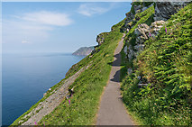 SS7049 : Cliff-side path by Ian Capper