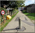 SU1660 : No cycling on this footpath from Aston Close to Goddard Road, Pewsey by Jaggery