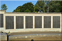 SX4753 : Plymouth Naval Memorial - Maritime, landing ships, crafts panels by N Chadwick
