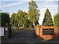 NY4153 : Entrance to Upperby Cemetery by Rose and Trev Clough