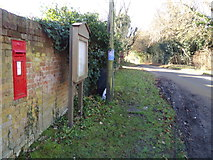TM4899 : Ashby Dell Victorian Postbox  & Blocka Road by Adrian Cable