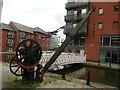 SJ8498 : Canal crane on Ashton Canal, Manchester by Colin Cheesman