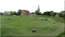 SK8608 : Oakham Castle - grounds, archery training course by Colin Park