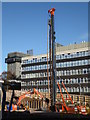 SP0483 : University of Birmingham - building site by Chris Allen