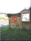 TM4899 : Ashby Dell Victorian Postbox & Ashby Village Notice Board by Adrian Cable