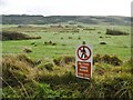 SY8880 : Tyneham, sign by Mike Faherty