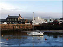 SH5738 : Afon Glaslyn and Harbour Station, Porthmadog by John Lucas
