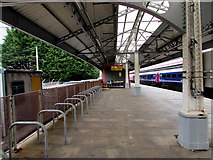 SS6593 : Cycle racks on Swansea railway station by Jaggery