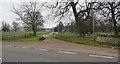 TL8398 : Entrance to Bodney Hall Farm by David Pashley