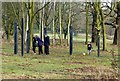SE2812 : Yorkshire Sculpture Park, 'Six Mourners and The One Alone' by Alan Murray-Rust