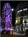 SK3587 : Fargate, Sheffield and the big Christmas wheel by Neil Theasby
