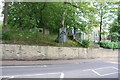 SE1422 : Stone wall on NE side of Halifax Road (A644) by Roger Templeman