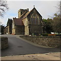 ST1586 : East side of St Martin's Church Caerphilly by Jaggery