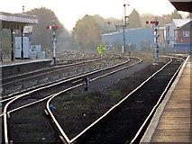 SO8555 : Worcester Shrub Hill Station - hazy morning by Chris Allen