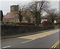 ST1586 : South side of St Martin's Church Caerphilly by Jaggery