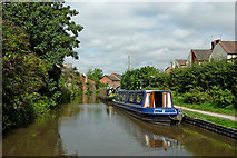 SK0418 : Visitor moorings in Rugeley, Staffordshire by Roger  Kidd