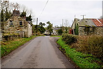 H5956 : Old buildings along Glenhoy Road by Kenneth  Allen