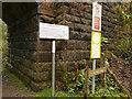 SJ9361 : Permissive path sign by Stephen Craven