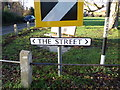 TM4897 : The Street sign by Adrian Cable