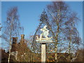 TM4897 : Somerleyton Village sign by Adrian Cable