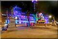 SJ8398 : Christmas Decorations in Albert Square by David Dixon