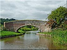 SK0220 : Taft Bridge east of Bishton in Staffordshire by Roger  Kidd