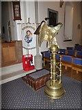 TQ0165 : Holy Trinity, Lyne: lectern by Basher Eyre