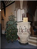 TQ0165 : Holy Trinity, Lyne: pulpit by Basher Eyre