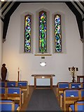 TQ0165 : Holy Trinity, Lyne: stained glas window (a) by Basher Eyre