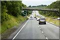SH6070 : Bridge over the Westbound A55 near Tal-y-Bont by David Dixon