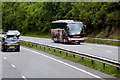 SH5669 : Tourist Coach on the North Wales Expressway near Glasinfryn by David Dixon