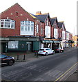 ST3087 : Stow Hill businesses near St Woolos Cathedral, Newport by Jaggery