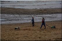 ST3049 : Burnham-on-Sea : Berrow Sands by Lewis Clarke