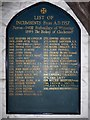 SZ7798 : SS Peter & Paul, West Wittering: incumbency board by Basher Eyre