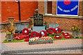 SO9877 : War Memorial outside Rubery Memorial Club, 64 New Road, Rubery, near Birmingham by P L Chadwick