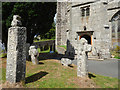 SX1867 : Church of St Neot - three crosses by Stephen Craven