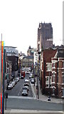 SJ3590 : View along Hope St from Liverpool Metropolitan Cathedral by Colin Park